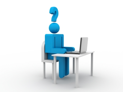 question guy on computer
