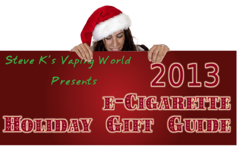 holiday christmas e-cigarette buying guide 2013 banner