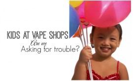 kids at vape shops